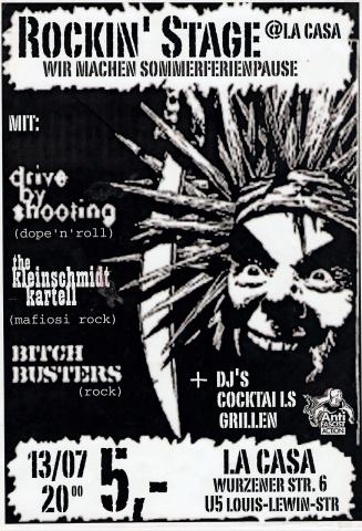Flyer zum 13. Juli 2001