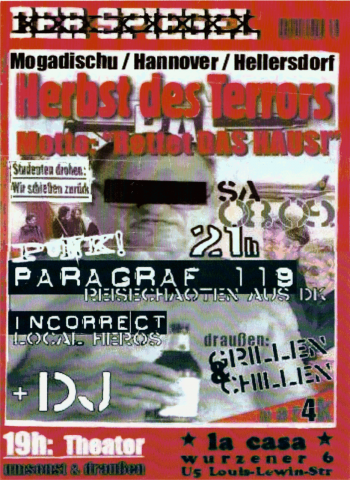 Plakat zum 8. September 2001