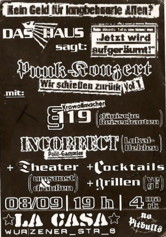 Flyer zum 8. September 2001
