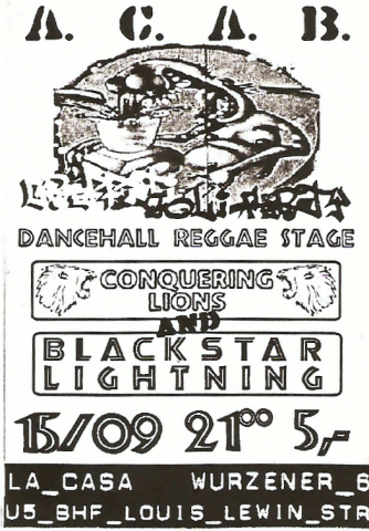 Flyer zum 15. September 2001