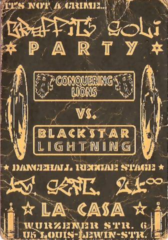 Flyer zum 15. September 2001