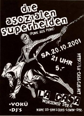 Flyer zum 20. Oktober 2001