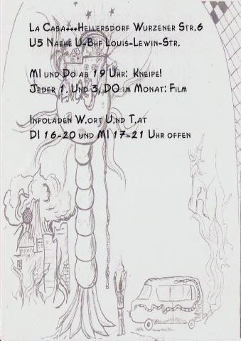 Rückseite des Monatsflyer für den Dezember 2001