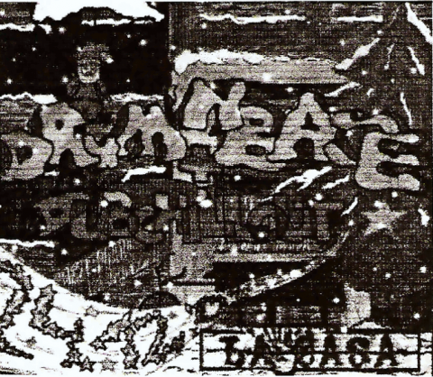 Vorderseite des Flyers zum 24. Dezember 2001