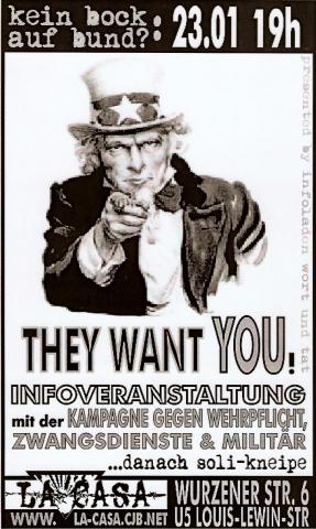 Plakat zum 23. Januar 2002