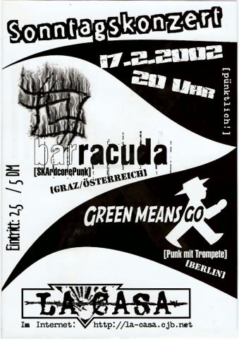 Plakat zum 17. Februar 2002