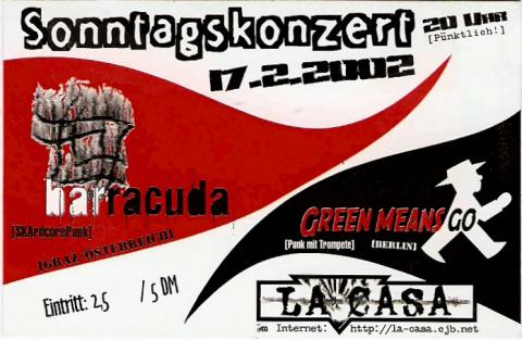 Flyer zum 17. Februar 2002