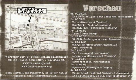 Rückseite des Flyers zum 8. März 2002