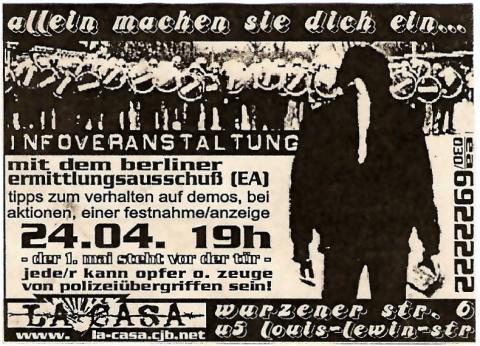 Flyer zum 24. April 2002
