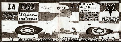 Vorderseite des Monatsflyers für den Mai 2002