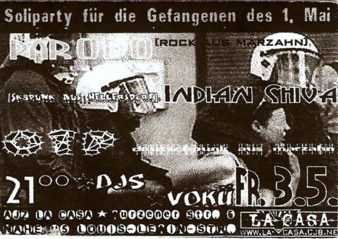 Flyer zum 3. Mai 2002