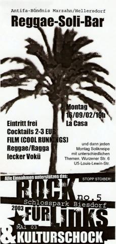 Flyer zum 16. September 2002