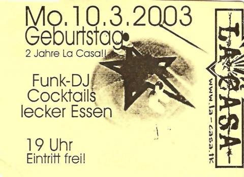 Flyer zum 10. März 2003