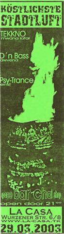Flyer zum 29. März 2003