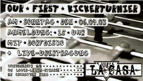 Flyer zum 6. April 2003