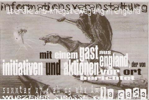 Flyer zum 27. April 2003