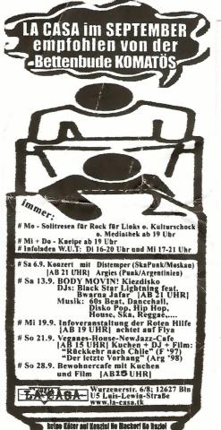 Monatsflyer für den September 2003