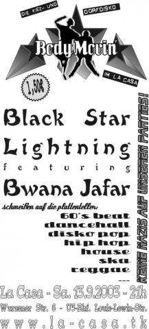 Plakat für den 13.9.2003