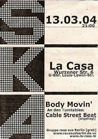 Flyer zum 13. März 2004