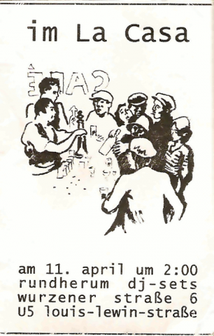 Rückseite des Flyers zum 11. April 2004