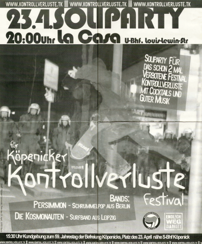 Plakat zum 23. April 2004