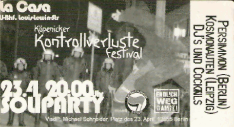 Flyer zum 23. April 2004