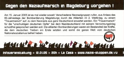 Flyer zum 12. Januar 2005