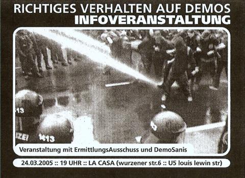 Flyer zum 24. März 2005