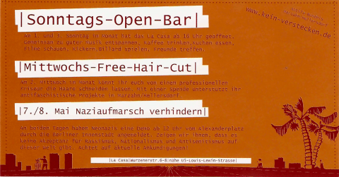 Flyer des ABM vom April 2005