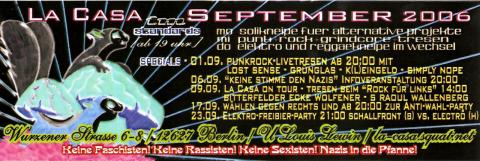 Flyer für den September 2006