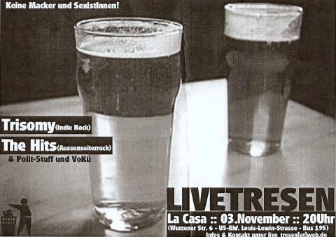 Flyer zum 3. November 2006