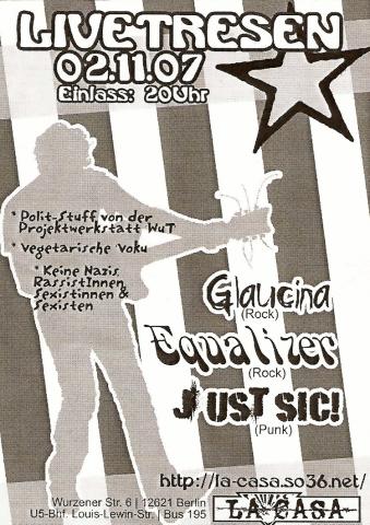 Flyer zum 2. November 2007