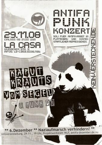 Plakat zum 29. November 2008