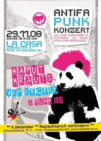Flyer zum 29. November 2008