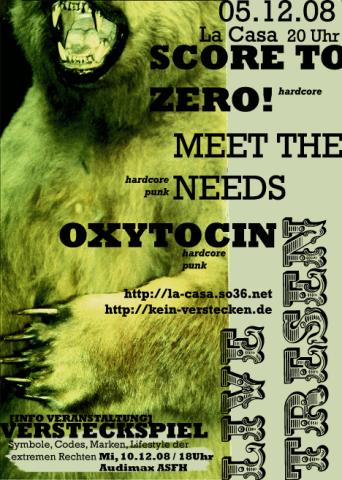 Flyer zum 5. Dezember 2008