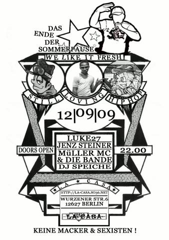 Plakat zum 12. September 2009
