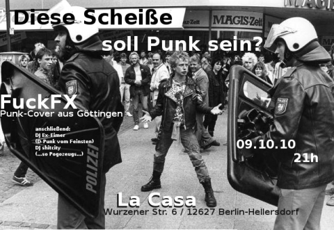 Flyer zum 9. Oktober 2010