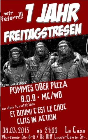Flyer zur Party am 8.3.2013