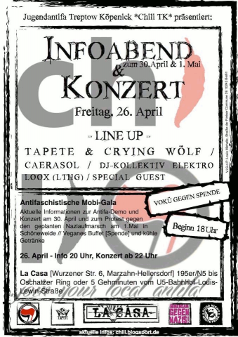Flyer zum 26. April 2013