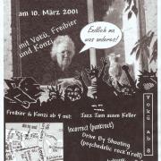 Flyer zum 10. März 2001
