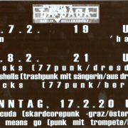 Displayfolie mit Programmvorschau für den Februar 2002