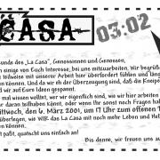 Die Vorderseite des Monatsflyer für den März 2002