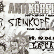 Flyer zum 19. April 2002