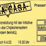 Flyer zum 9. April 2003
