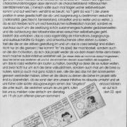 Vorderseite des Flyers zum 22. April 2003