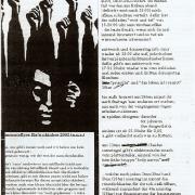 Vorderseite des Monatsflyers für den Oktober 2003