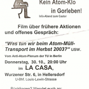 Flyer zum 30. Oktober 2003