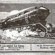 Flyer zum 27. Dezember 2003