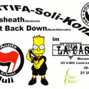 Vorderseite des Flyer zum 29. Juli 2006