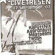 Flyer für den Livetresen am 7. September 2007